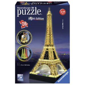 Ravensburger 3D pimedas helendav pusle Eiffeli torn 216 tk 1/1