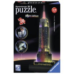Ravensburger 3D pimedas helendav pusle Empire State Building 216 tk 1/2