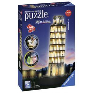 Ravensburger 3D pimedas helendav pusle Pisa torn 216 tk 1/2