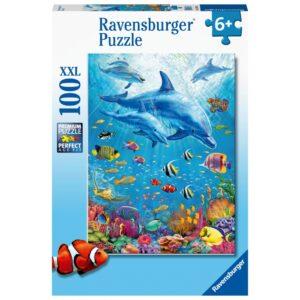 Ravensburger pusle 100 tk. Delfiinid 1/2