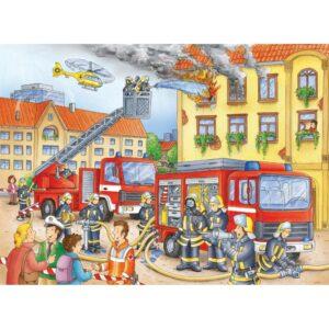 Ravensburger pusle 100 tk Tuletõrje osakond 1/2