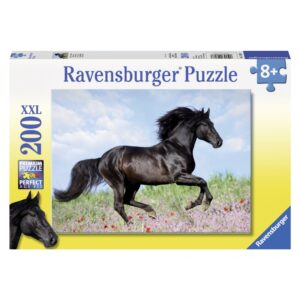 Ravensburger pusle 200 tk Must ratsu 1/2