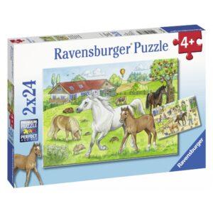 Ravensburger pusle 2x24 tk Hobused 1/3
