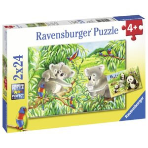 Ravensburger pusle 2x24 tk Koalad ja pandad 1/2