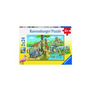 Ravensburger pusle 2x24 tk Loomaaed 1/3