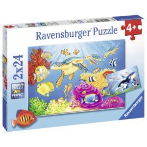 Ravensburger pusle 2x24 tk Vibratsioon vee all 1/3
