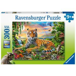 Ravensburger pusle 300 tk. Tiiger päikeseloojangul 1/1