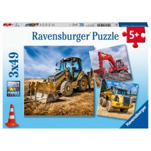 Ravensburger pusle 3x49 Ehitussõidukid 1/1