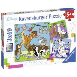 Ravensburger pusle 3x49 tk Disney tegelased 1/4