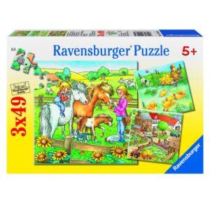 Ravensburger pusle 3x49 tk Farmiaed 1/4
