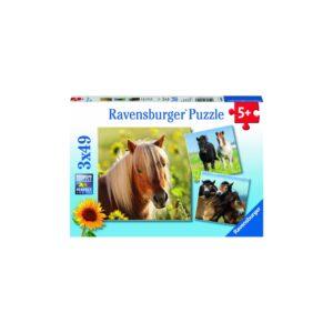 Ravensburger pusle 3x49 tk Hobused 1/4