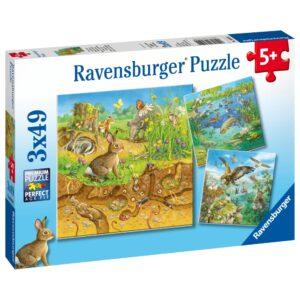 Ravensburger pusle 3x49 tk Loomad 1/4