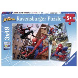 Ravensburger pusle 3x49 tk Spiderman 1/4