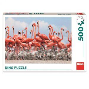 Dino pusle 500 tk Flamingo 1/2