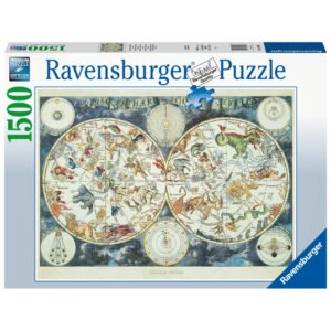 Ravensburger pusle 1500 tk Metsaliste maailmakaart 1/2
