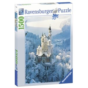 Ravensburger pusle 1500 tk Neuschwansteini loss talvel 1/1