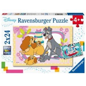 Ravensburger pusle 2x24 Disney lemmikloomad 1/3