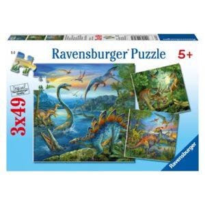 Ravensburger pusle 3x49 tk Dinosaurused 1/4
