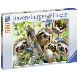 Ravensburger pusle 500 tk Laiskloomade selfi 1/1