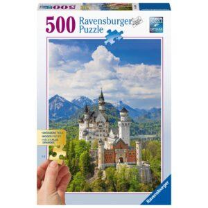 Ravensburger pusle 500 tk Neuschwansteini loss 1/2