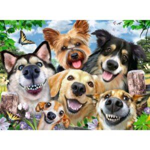 Ravensburger pusle 500 tk Rõõmsad selfie koerad 1/2