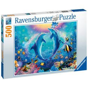 Ravensburger pusle 500 tk Tantsivad delfiinid 1/2