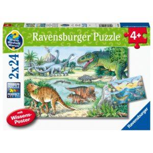 Ravensburger pusle 2x24 tk Dinosaurused 1/3
