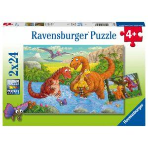 Ravensburger pusle 2x24 tk. Lõbusad dinosaurused 1/2